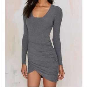 NWT Nasty Gal Live and Let Die Ribbed Dress XS